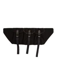 Ys Black Triple Compartt Bag