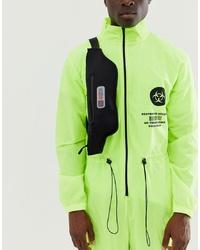 ASOS DESIGN Cross Body Bag In Black Scuba With Rubber Badge