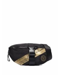 VERSACE JEANS COUTURE Logo Print Buckled Belt Bag