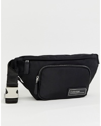 Calvin Klein Primary Nylon Bum Bag In Black
