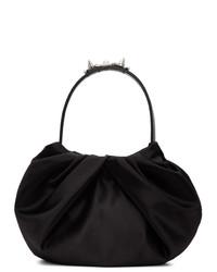 Simone Rocha Black Satin Pleated Bag