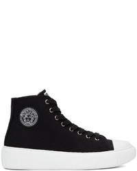 Versace Black Greca High Top Sneakers