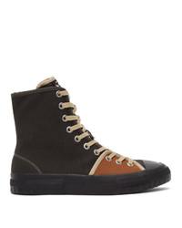 CamperLab Brown And Orange Twins Hi Sneakers