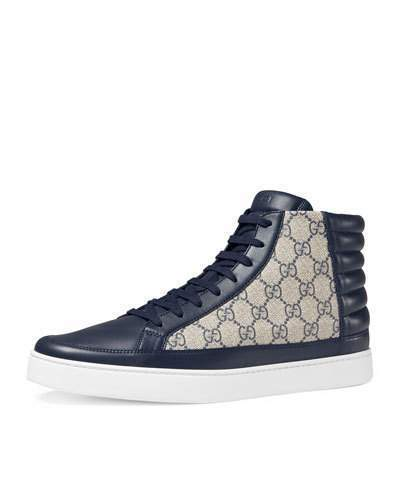 Gucci Common Canvas Leather High Top