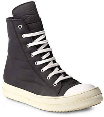 rick owens drkshdw ramones canvas high top sneakers where to buy