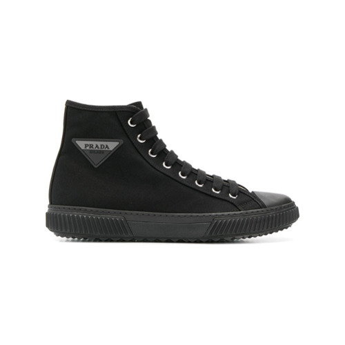 Prada High Top Logo Sneakers