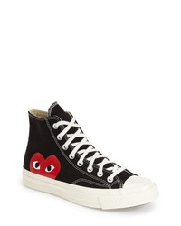 Comme des Garcons Play X Converse Chuck Taylor Hidden Heart High Top Sneaker