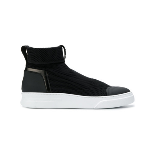Bruno Bordese Textured Slip On High Top Sneakers
