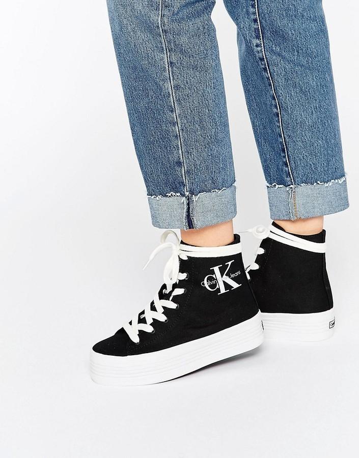 Calvin Klein Jeans Zabrina Black Canvas