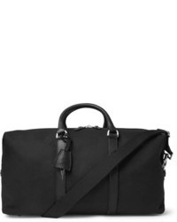 Clipper leather trimmed canvas holdall bag medium 85018