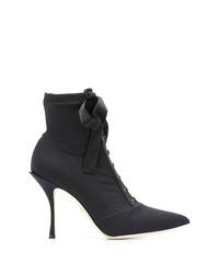Dolce & Gabbana Lori Stretch Jersey Ankle Boots
