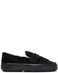 Vans Black Faux Pony Style 53 Lx Loafers