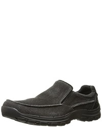 Black Canvas Loafers