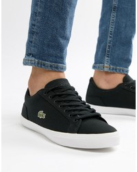 Lacoste Lerond Bl 2 Trainers In Black Canvas