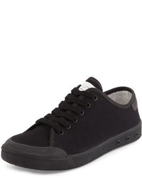 Rag and Bone Rag Bone Standard Issue Canvas Low Top Sneaker Black