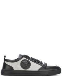 Versace Medusa Low Top Canvas Sneakers