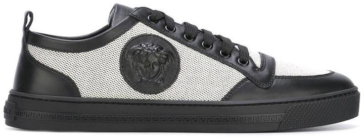 748d710a2 Versace Medusa Low Top Canvas Sneakers, $566 | farfetch.com ...