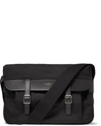 Black Canvas Messenger Bag