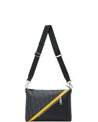 Fendi Black Medium Forever Messenger Bag