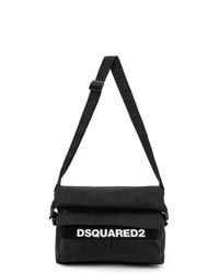 DSQUARED2 Black Military Messenger Bag