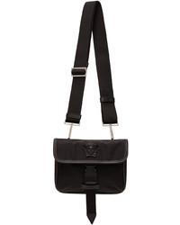 Versace Black Nylon Small La Medusa Messenger Bag