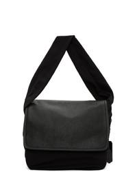 Neil Barrett Black Oversized Satchel Messenger Bag