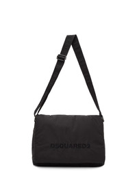 DSQUARED2 Black Quilted Nylon Messenger Bag