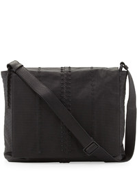 Cabriolet perforated leather messenger bag black medium 142841