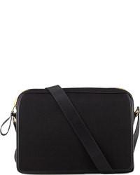 Canvas messenger bag black medium 79111