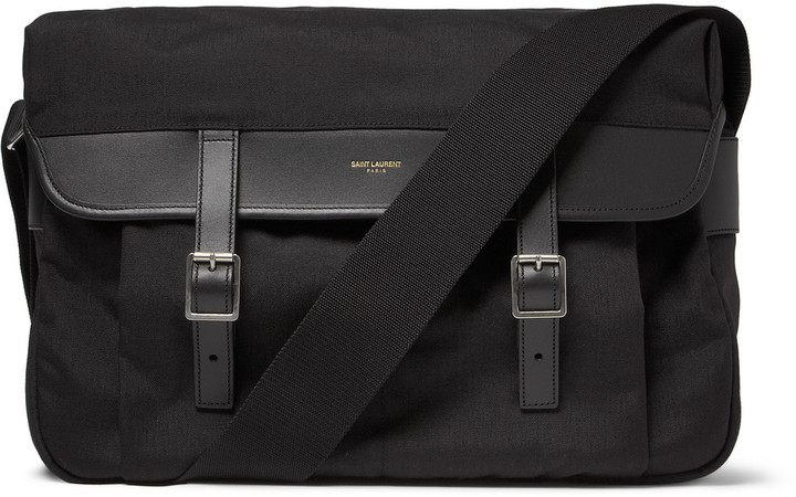 Saint Laurent Canvas Messenger Bag | Where to buy & how to wear