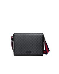 8df8ec2a1d4 Men s Black Canvas Messenger Bags by Gucci