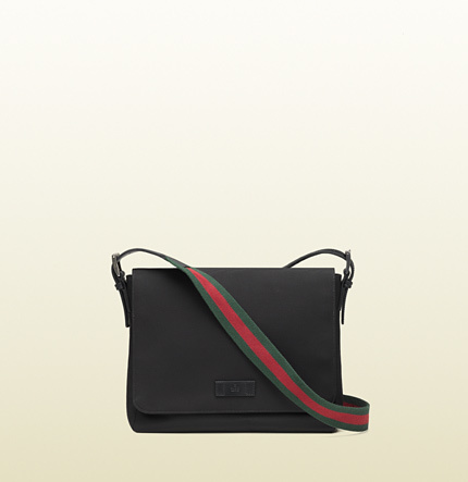 5d891603ff78 Gucci Black Techno Canvas Messenger Bag, $795 | Gucci | Lookastic.com