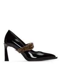 Fendi Black Glossy Mary Jane Heels