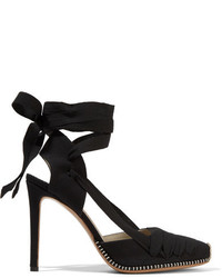 Altuzarra Dorsay Canvas Pumps Black