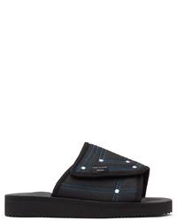 John Elliott Black Suicoke Edition Slide Sandals