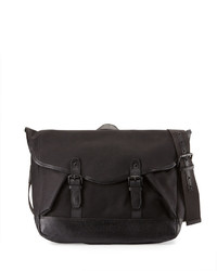 Cole Haan Flap Top Canvas Messenger Bag Black