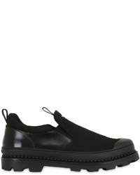 Black Canvas Slip-on Sneakers