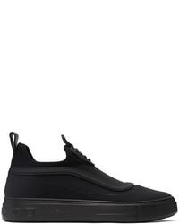 Salvatore Ferragamo Black Padded Borg Sneakers