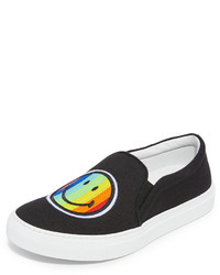 Joshua Sanders Rainbow Smile Slip On Sneakers