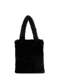 Sulvam Black Fur Tote