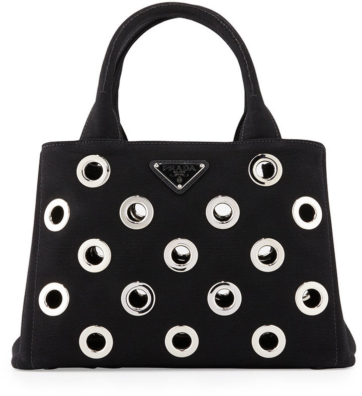 store prada canapa grommet small garden tote bag black where to buy 0c4ff  fde41 778f0b009471a