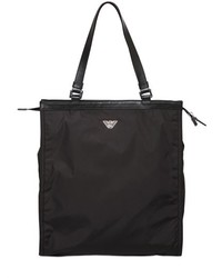 Emporio Armani Nylon Tote Bag With Leather Details