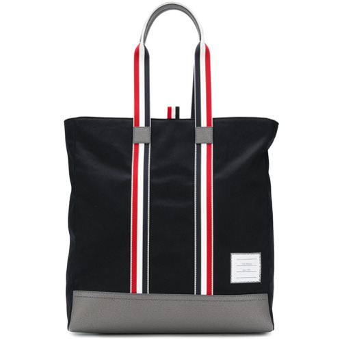 Thom Browne Leather Base Unstructured Tote Bag