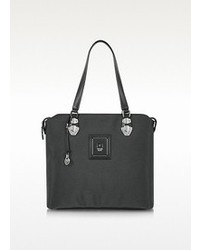 Piero Guidi Linea Bold Black Canvas Tote