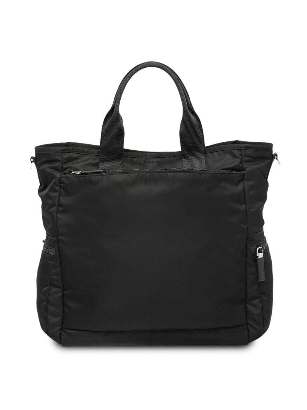 45ea5a1e223abb Prada Logo Plaque Tote Bag, $1,394 | farfetch.com | Lookastic.com