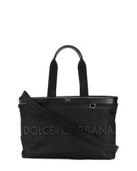 Dolce & Gabbana Logo Plaque Tote Bag