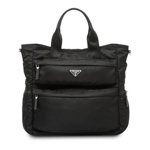 364a5243968a ... Prada Logo Plaque Tote Bag ...