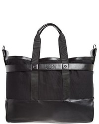 Luca Chiara Alfredo Canvas Vegan Leather Tote Bag