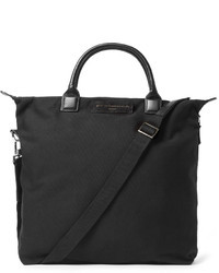 Ohare leather trimmed organic cotton canvas tote bag medium 32766