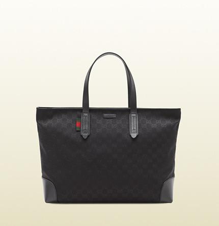 e3493fde4fdb9f ... Black Canvas Tote Bags Gucci Original Gg Canvas Tote ...